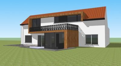 Extension maison rixensart dune architecture - Architecte de jardin brabant wallon ...