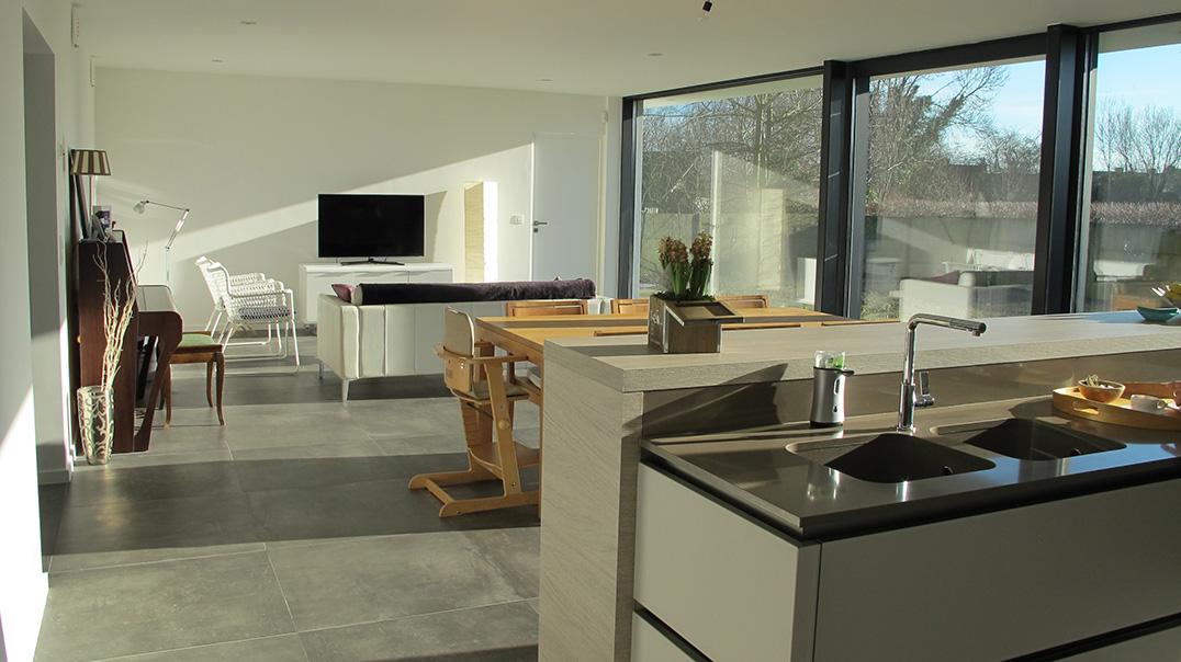 Maison passive contemporaine seneffe architecte brabant wallon construction - Maison passive renovation ...