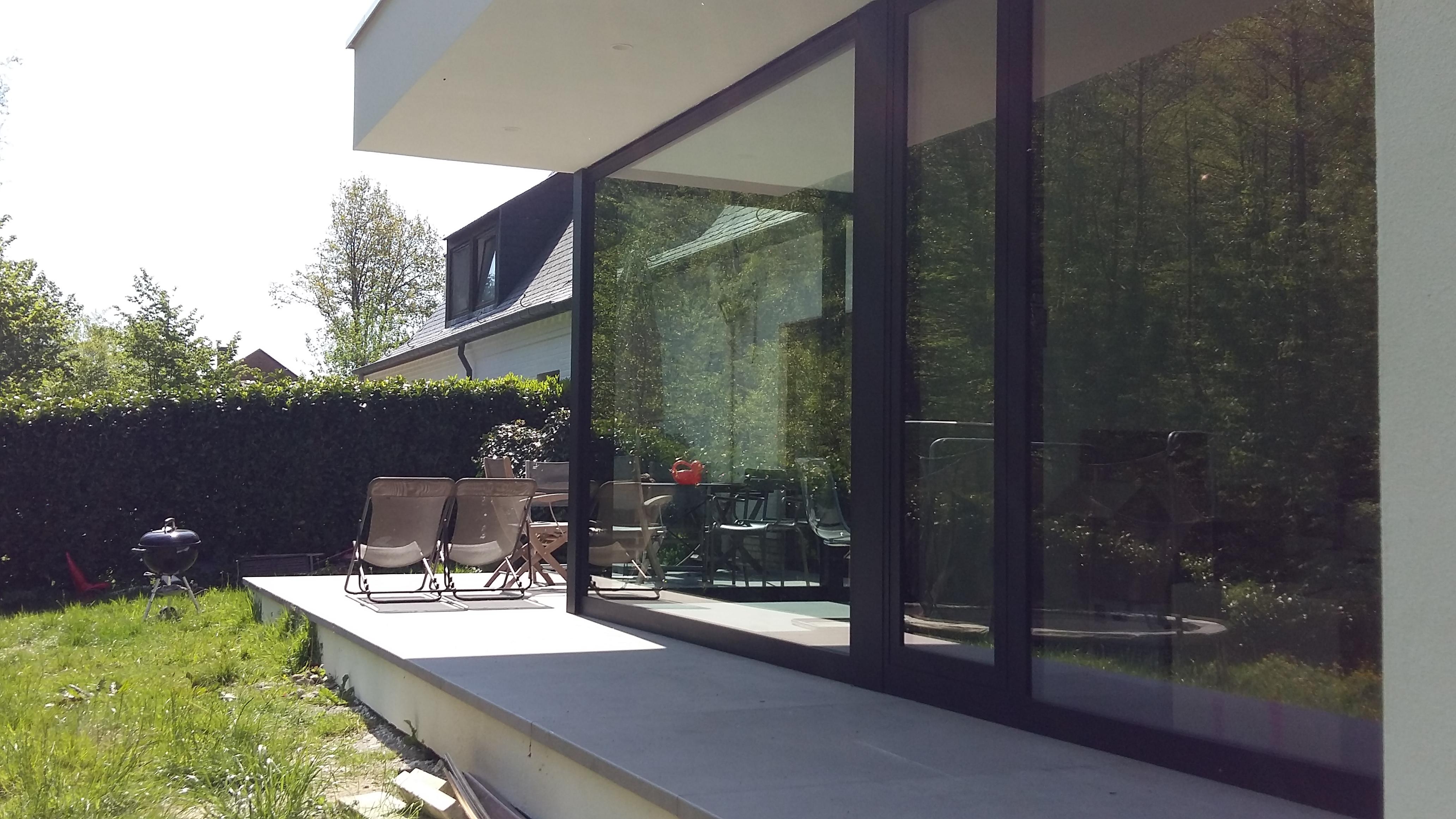 Extension contemporaine genappe dune architecture - Architecte de jardin brabant wallon ...
